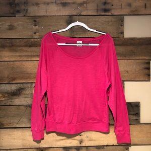 PINK wide neck pink top